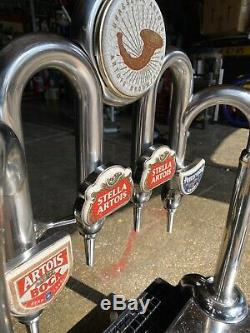 Stella Artois Beer Pump Font 4 Tap Dispenser T Bar Pub Club Man Cave Very Rare