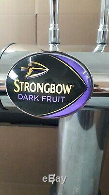 Strongbow Dark Fruit, Foster's 2 Out T Bar Beer Pump Font Highline Chrome Taps