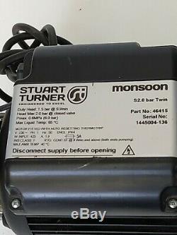 Stuart Turner Monsoon 46415 Standard 2.0 Bar Twin Pump RRP £499 FREE UK RETURNS