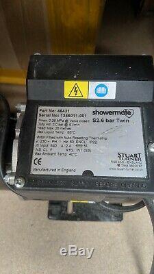 Stuart Turner SHOWERMATE Standard 2.6 bar Twin Bathroom or Shower Pump RRP£340