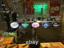 Stunning Angram 5 font Chrome T Bar beer pump