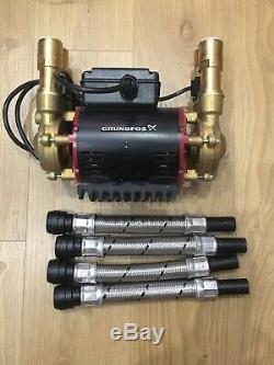 Superb Grundfos (watermill) 3 Bar Positive Twin Shower Pump Stp 3.0b Excellent