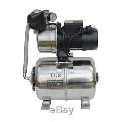 T. I. P. Hauswasserwerk HWW INOX 1300 Plus F Wasserpumpe Pumpe 5 Bar Gartenpumpe