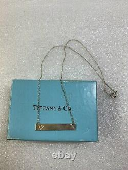 Tiffany & Co Paloma Picasso Sterling Silver Loving Heart Bar 18 Necklace