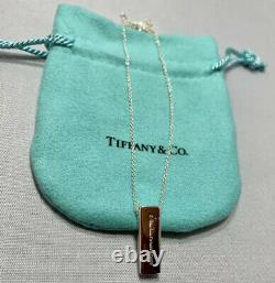 Tiffany & Co. Sterling Silver 925 Paloma Picasso Diamond Heart Bar Necklace