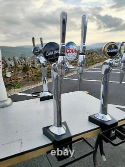 Twin Chrome Double Beer Pump Carling Coors Light man cave home bar garden party