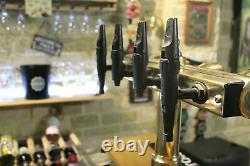 Vintage Brass 4 Font T bar beer pump with Guinness