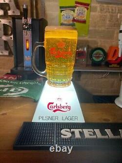 Vintage Carlsberg Lager bar font beer pump topper man cave retro