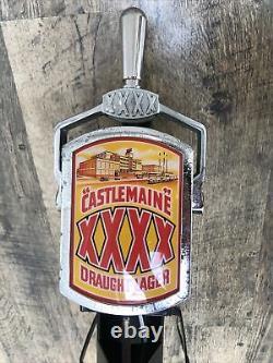 Vintage Castlemaine Beer Pump Bar Front Mancave Pub Draught XXXX Metal case