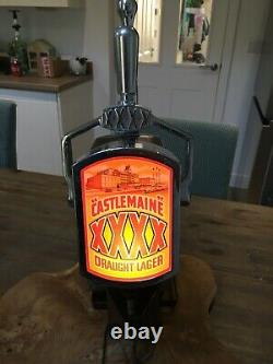 Vintage Castlemaine xxxx beer pump bar font with working light and transformer