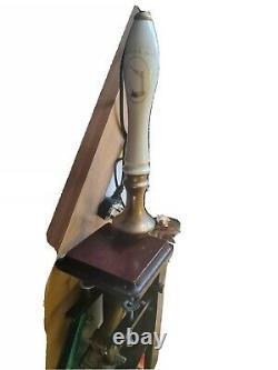 Vintage Hi Gene Manual Beer Pump Woodfords Ceramic Handle Fwo Bar Pub Man Cave
