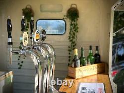 Vintage Horse Trailer Bar Catering Beer Pumps + Cooler Exceptional order