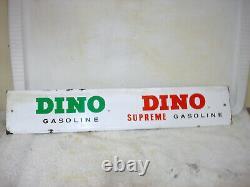 Vintage Original Door Push / Gas Pump 21 Bar Sinclair/ Dino Gasoline Adv. Sign