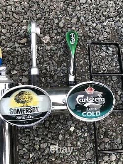 Vintage Pub ManCave Bar 4 Font Handle Taps Beer Guinness, Tetely Angram Pumps